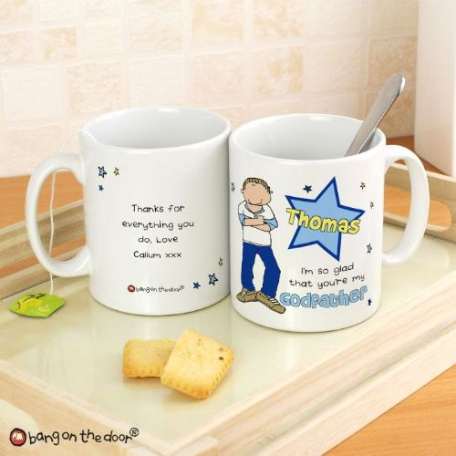 Personalised Bang On The Door Godfather Mug